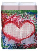 Gingham Crazy Heart Shrink Wrapped Duvet Cover