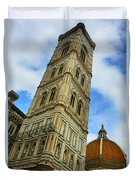 Giotto Campanile Tower In Florence Italy Duvet Cover