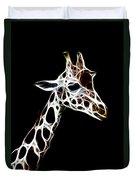 Giraffe Art Duvet Cover