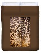 Giraffe Butt Duvet Cover by Adam Romanowicz
