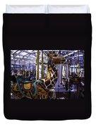 Giraffe Carousel Ride Duvet Cover