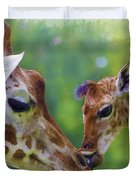 Mom And Me Duvet Cover
