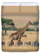 Giraffe Giraffa Camelopardalis Duvet Cover
