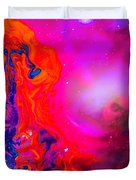 Giraffe In The Universe - Abstract Painting Duvet Cover
