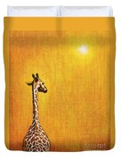 Giraffe Looking Back Duvet Cover