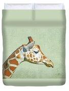 Giraffe Mug Shot Duvet Cover