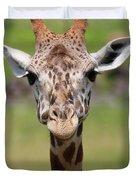 Giraffe Peek A Boo Poster Duvet Cover