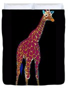 Giraffe Pop Art Duvet Cover