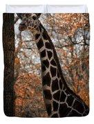 Giraffe Posing Duvet Cover