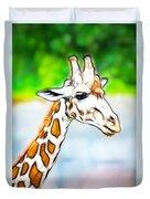 Giraffe Scrimshaw Duvet Cover