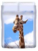Giraffe Speak Duvet Cover