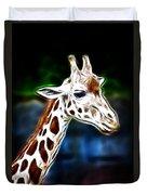 Giraffe Zoo Art Duvet Cover
