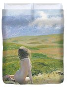Girl And Cloud Duvet Cover