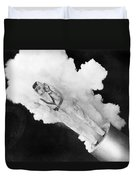 Girl Becomes Human Cannonball Duvet Cover