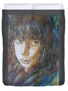 Girl By C215 Duvet Cover
