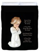 Girl Childs Bedtime Prayer Duvet Cover