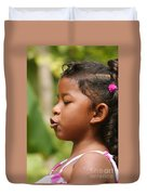 girl from Panama 3 Duvet Cover