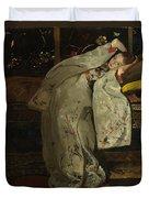 Girl In A Kimono Duvet Cover