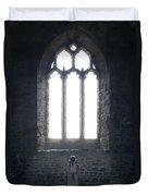 Girl In Chapel Duvet Cover by Joana Kruse