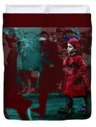 Girl In The Blood-stained Coat Duvet Cover