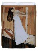 Girl On Dock Duvet Cover
