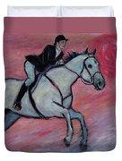 Girl Riding Her Horse I Duvet Cover