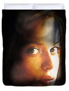 Girl Sans Variant Duvet Cover