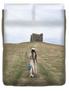 Girl Walks To A Chapel Duvet Cover by Joana Kruse
