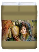 Girl With A Jug. Duvet Cover