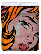 Girl With Hair Ribbon No2 Duvet Cover