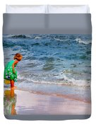 Girl With Pail Duvet Cover