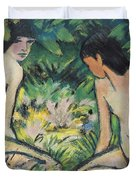 Girls In The Open Air Duvet Cover by Otto Mueller or Muller