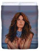 Gisele Bundchen Painting Duvet Cover