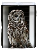 Give A Hoot Duvet Cover by John Haldane