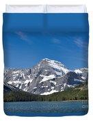 Glacier National Park Mountain Duvet Cover