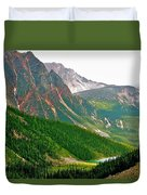 Glacier Area By Mount Edith Cavelle In Jasper Np-alberta Duvet Cover