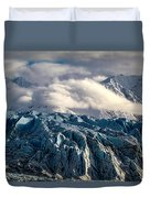 Glacier In The Clouds Duvet Cover