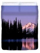 Glacier Peak Sunrise On Image Lake Duvet Cover
