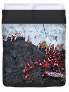 Glacier Pilgrimage Quyllur Riti Festival Duvet Cover