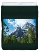 Glacier Seen From Kicking Horse Campground In Yoho Np-bc Duvet Cover