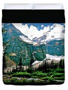 Glaciers Along Plain Of Six Glaciers Trail In Banff Np-alberta Duvet Cover