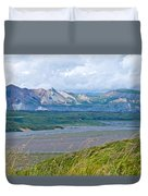 Glaciers And Mountains From Eielson Visitor's Center In Denali Np-ak  Duvet Cover