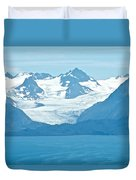 Glaciers In Kenai Range Over Kachemak Bay In Homer-ak- Duvet Cover