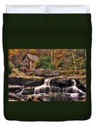 Glade Creek Grist Mill 1a - Autumn Late Afternoon Babcock State Park Wv Duvet Cover