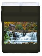 Glade Creek Grist Mill And Waterfalls Duvet Cover
