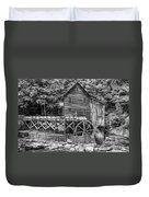 Glade Creek Grist Mill Bw Duvet Cover