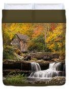 Glade Creek Grist Mill Duvet Cover