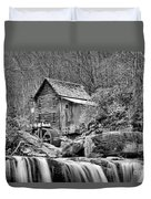 Glade Creek In Black And White Duvet Cover