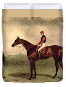 Gladiateur With Harry Grimshaw Up And His Owner Count Frederic De Lagrange Duvet Cover by Harry Hall
