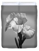 Gladiola In Black And White Duvet Cover